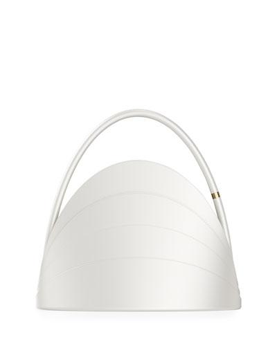 Millefoglie Layered Top Handle Bag  White