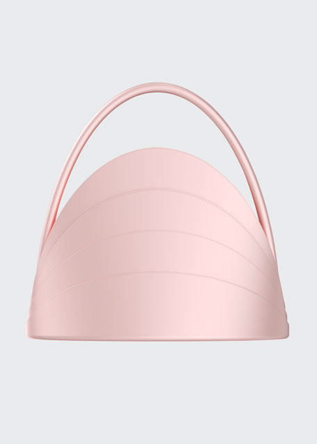 Millefoglie Layered Top Handle Bag, Pink