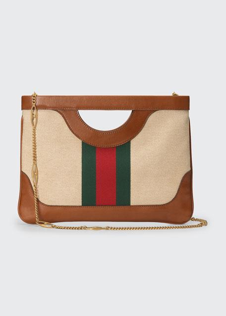 Vintage Canvas Shoulder Bag