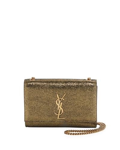 Kate Monogram YSL Small Metallic Leather Crossbody Bag