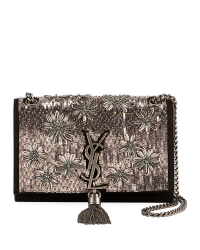 289629f6078eb Kate Small YSL Monogram Tassel Crossbody Bag with Beaded Flowers Quick  Look. Saint Laurent