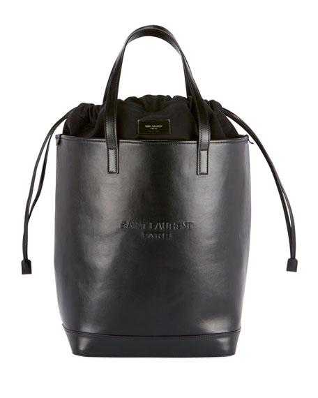 Saint Laurent Teddy Harlem Large Leather Bucket Bag