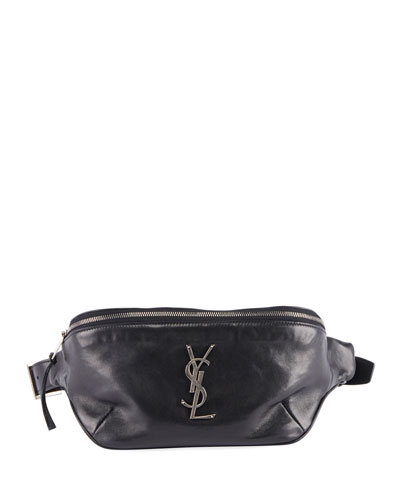 YSL Monogram Curved Zip-Top Belt Bag