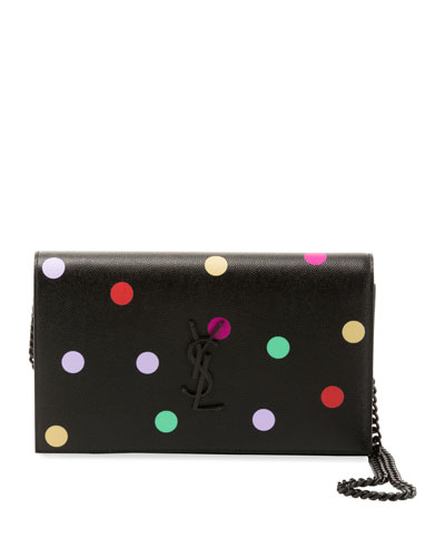 17fcb251ccd1 Kate Small Monogram YSL Polka-Dot Wallet on Chain Quick Look. Saint Laurent