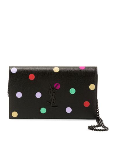 6d837bf3c19cf Kate Small Monogram YSL Polka-Dot Wallet on Chain Quick Look. Saint Laurent