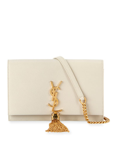 Kate Monogram YSL Calf Leather Tassel Wallet on Chain