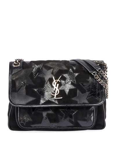 Niki Medium YSL Monogram Stars Flap Shoulder Bag Quick Look. Saint Laurent 8e71cfa50d
