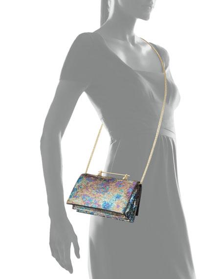 Alexia Metallic Calfskin Crossbody Bag