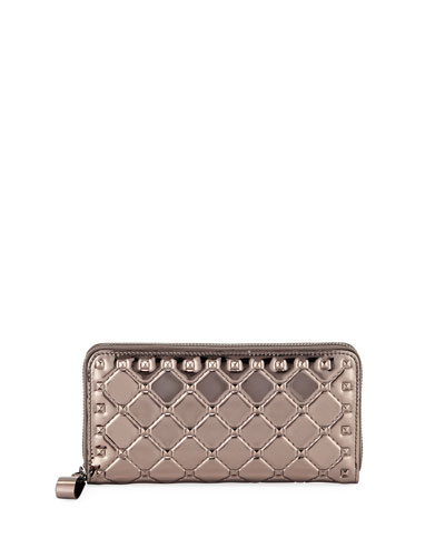 Rockstud Spike Metallic Continental Wallet