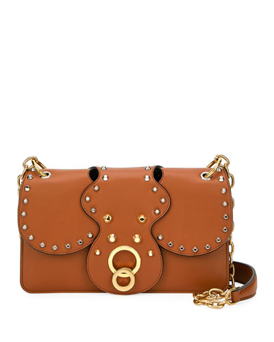City Calf Studded Shoulder Bag