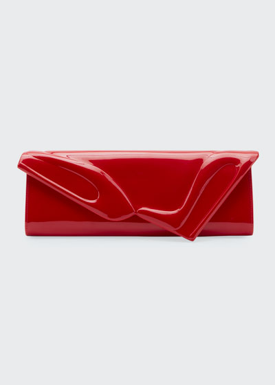 So Kate Patent East-West Clutch Bag  Black
