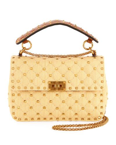 Rockstud Spike Medium Shoulder Bag Neutral Quick Look. Valentino Garavani 87aaf2fe6cddf