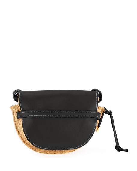 Gate Small Raffia Shoulder Bag