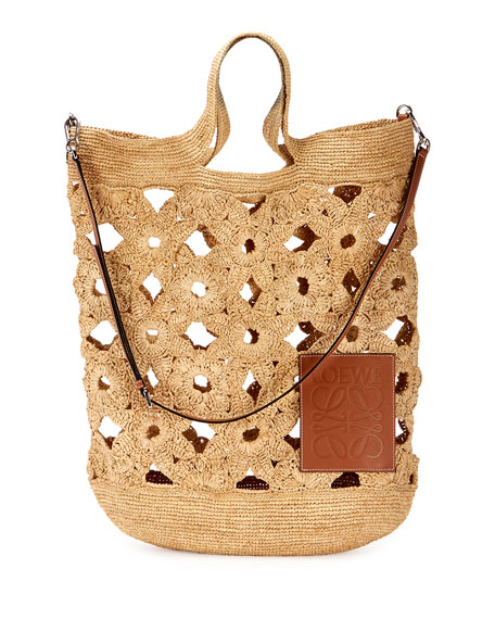 Loewe Slit Crochet Shoulder Bag