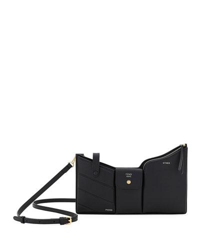Bustine Three-Pocket Century Calf Crossbody Bag