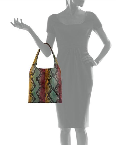 Medium Grand Shopper Python Tote Bag, Multi