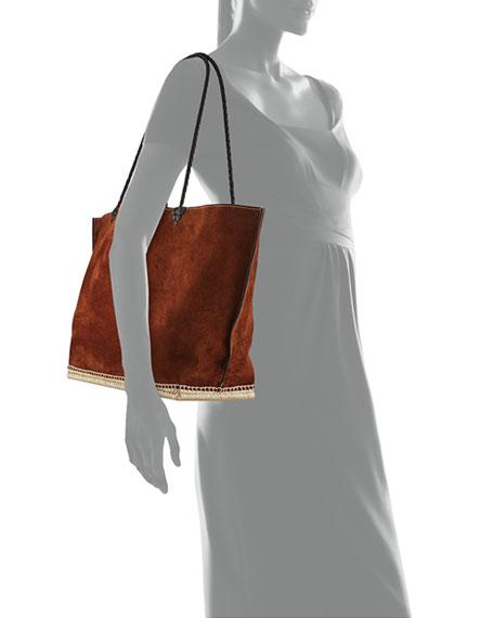 Large Espadrille Tote Bag, Brown