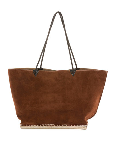 Large Espadrille Tote Bag  Brown
