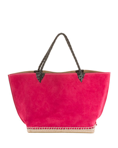 Small Espadrille Tote Bag  Dark Pink