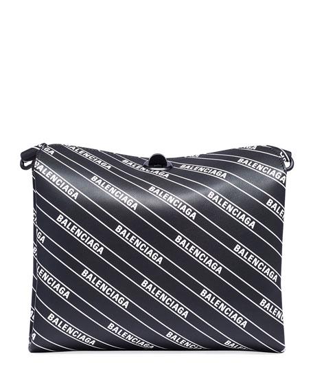 Small Logo-Print Flap Shoulder Bag