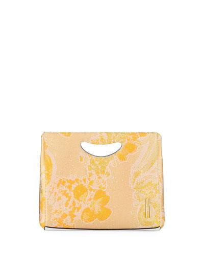 1712 Brocade Basket Clutch Bag