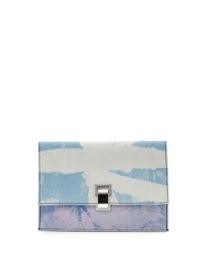 Small Denim Tie-Dye Lunch Shoulder Bag