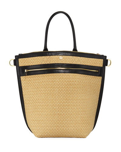 2946f19aa7e8 Trapezoid Medium Raffia Tote Bag Quick Look. SACAI