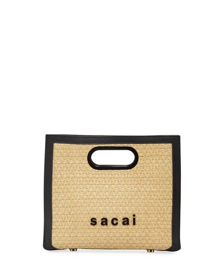Shopper Raffia Clutch Bag
