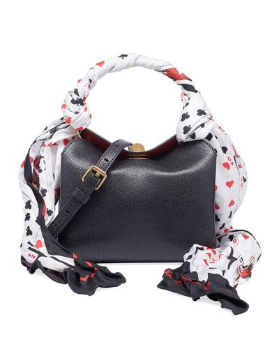 Extra Small Scarf AJ Shiny Shoulder Bag