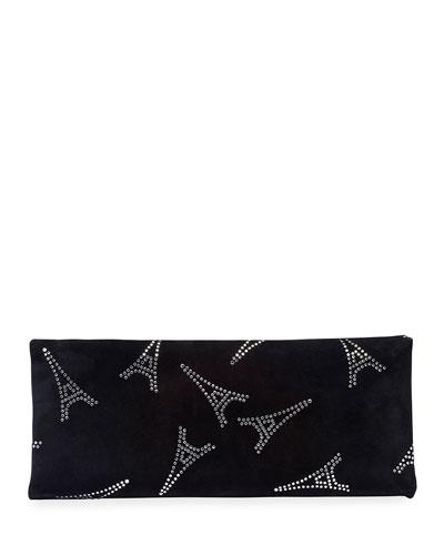 Eiffel Hard Folding Clutch Bag