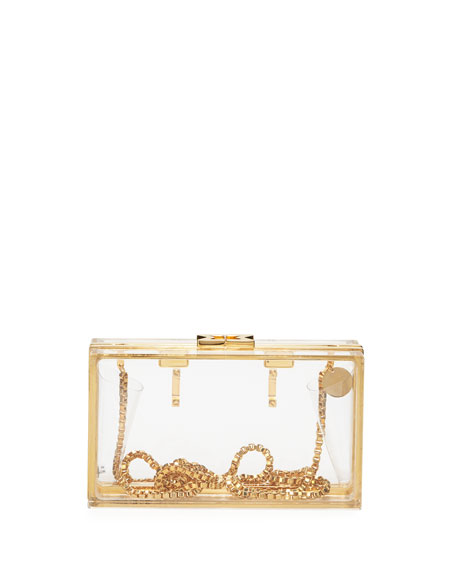 Capsule Resin Clutch Bag with Belt