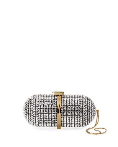 Crystal Pill Clutch Bag