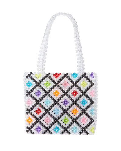 Seltzer Beaded Top Handle Bag