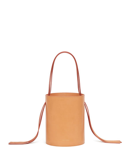 Vegetable-Tanned Fringe Bucket Bag