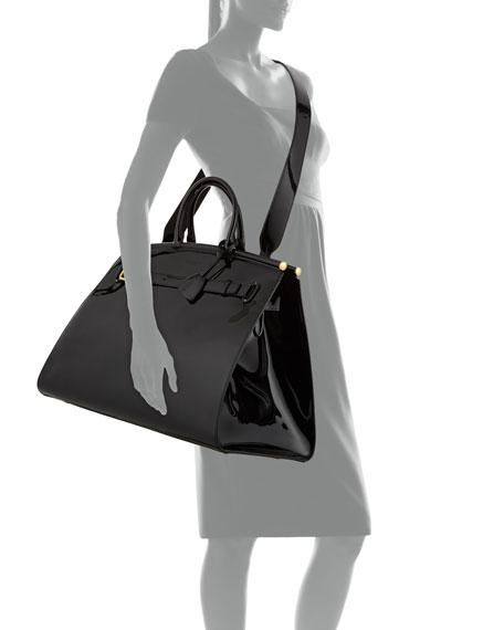 802b9835688c Ralph Lauren RL 50 Large Patent Top-Handle Bag