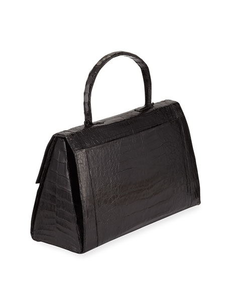 Medium East-West Top Handle Bag