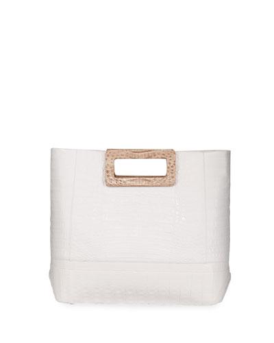 Keyhole Crocodile Medium Tote Bag