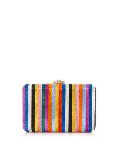 Candy Stripes Slim Clutch Bag