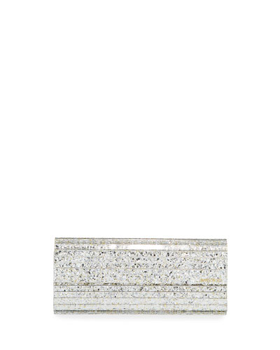 Sweetie Glittered Acrylic Clutch Bag