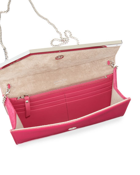 Emmie Patent Leather Clutch Bag