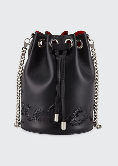 Marie Jane Leather Bucket Bag