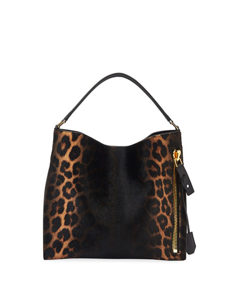 Alix Small Ombre Leopard Hobo Bag