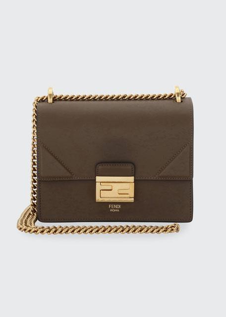 Fendi Kan Small Matte Grace Leather Crossbody Bag