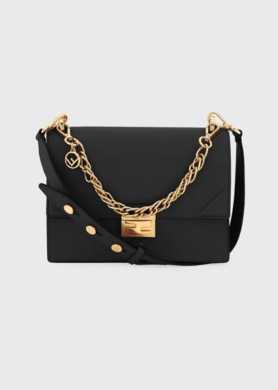 Kan Shiny Leather Shoulder Bag