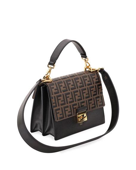 71ddc0bf7c64 Fendi Kan I FF-Embossed Crossbody Bag