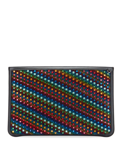 Loubiclutch Rainbow Embellished Bag