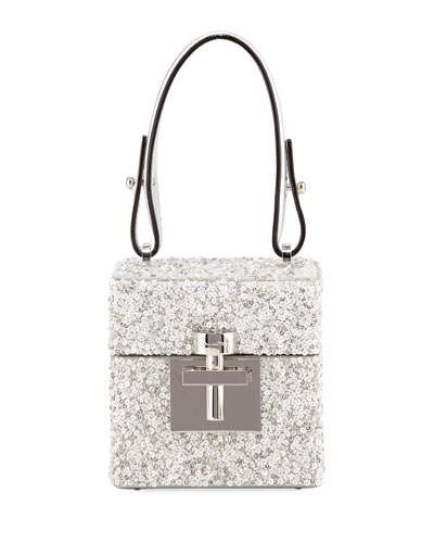 Alibi Box Transparent Top-Handle Bag