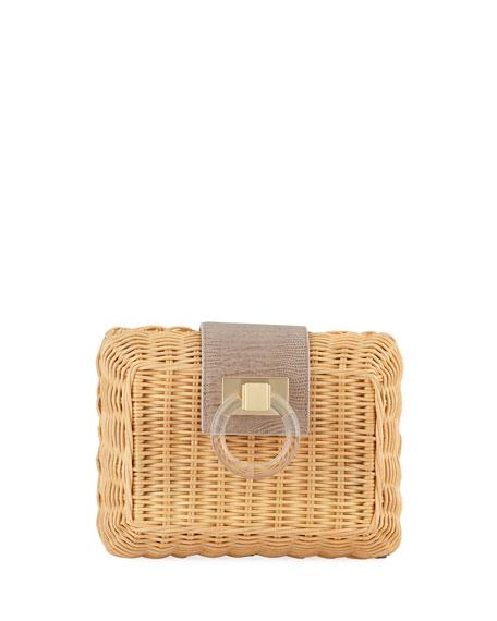 Pamela Munson Marilyn Small Wicker Clutch Bag
