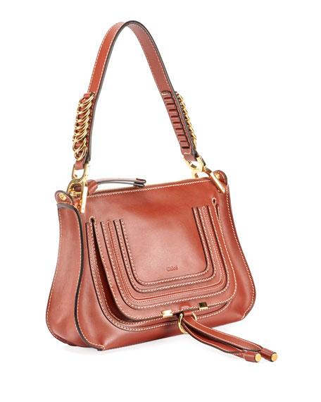 Marcie Saddle Shiny Shoulder Bag