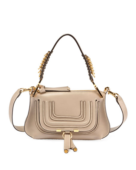 Marcie Small Shiny Saddle Shoulder Bag